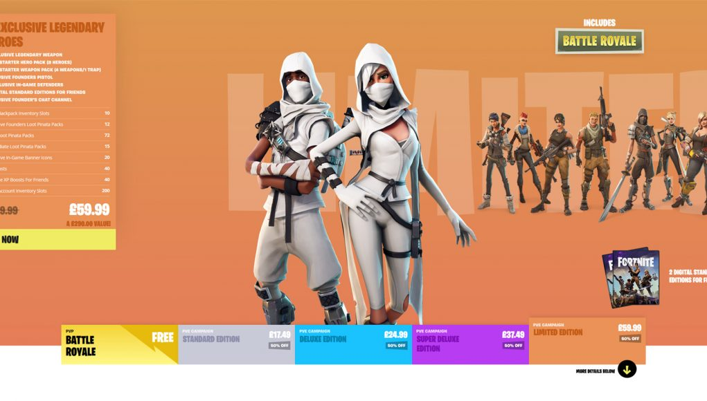 save the world is now 50 off until tuesday 27th - how much is fortnite save the world pc