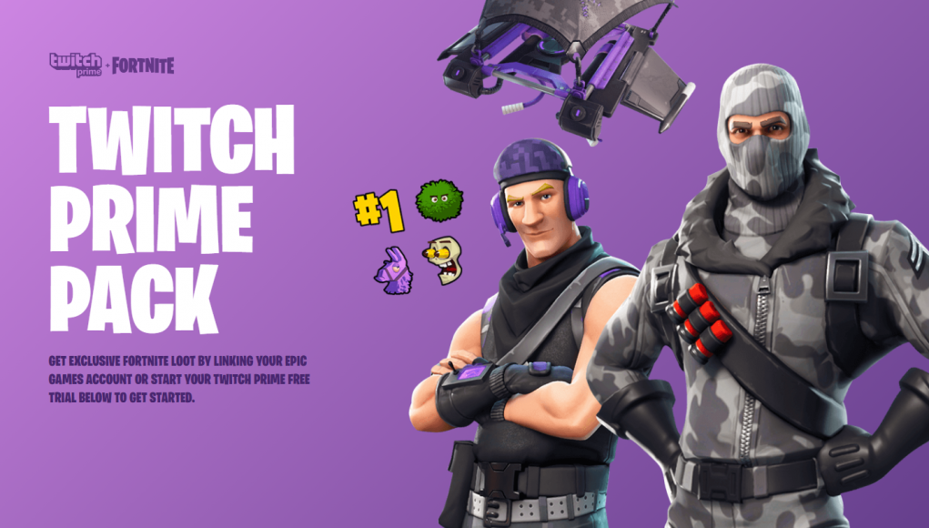 twitch prime loot for fortnite available now through may 9 - fortnite twitch prime pack 3 leak