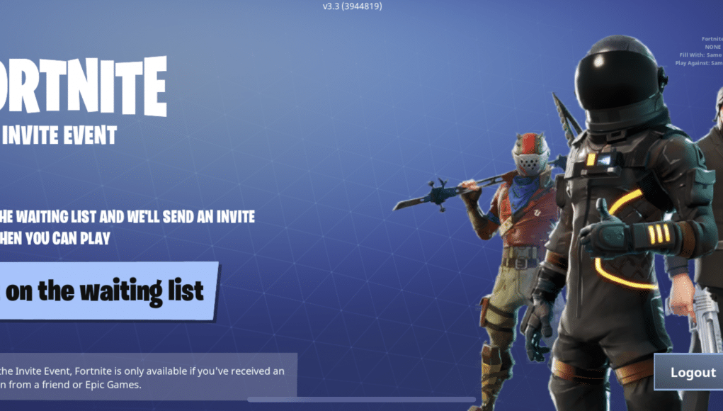 Fortnite Invite Event on iOS: app now up on store, need invite code