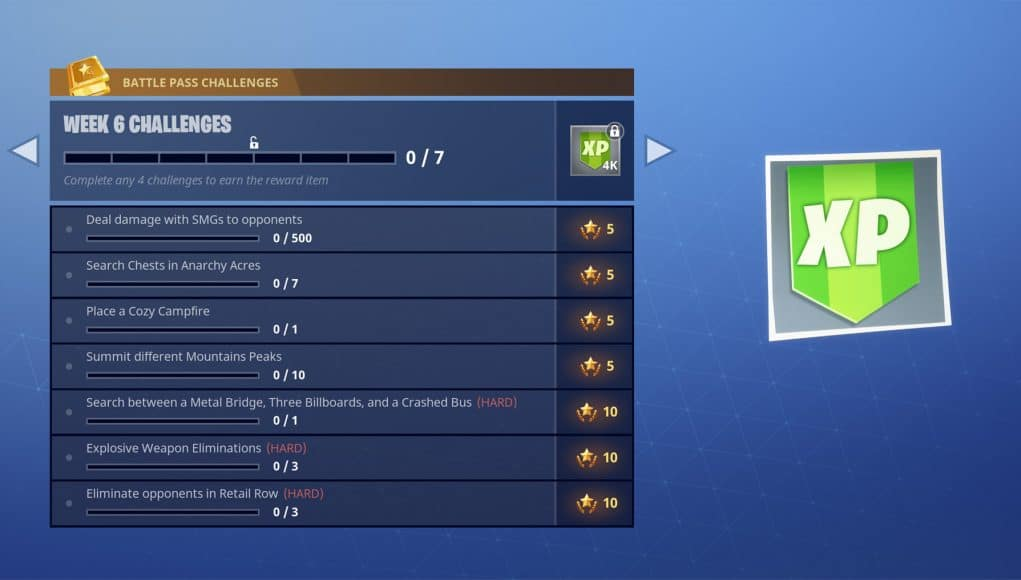 Season 3 Week 6 Challenges Fortnite INTEL