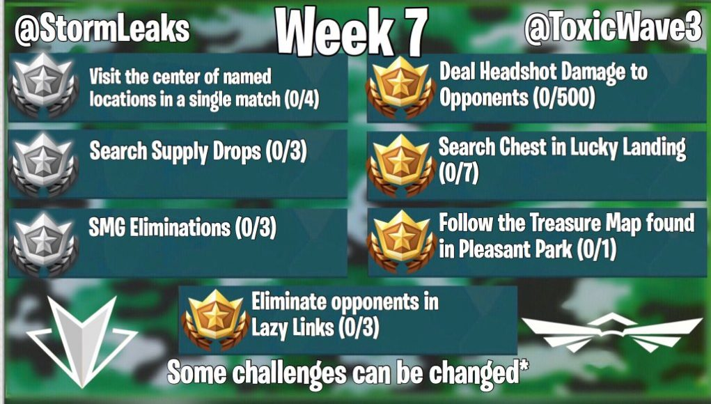 Fortnite Season 5 Week 7 Challenges Leaked Fortnite Intel