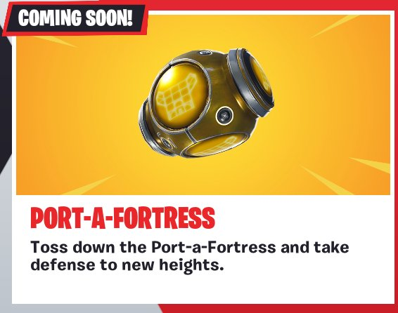 Fortnite patch brings Port-a-Fortress and a new LTM