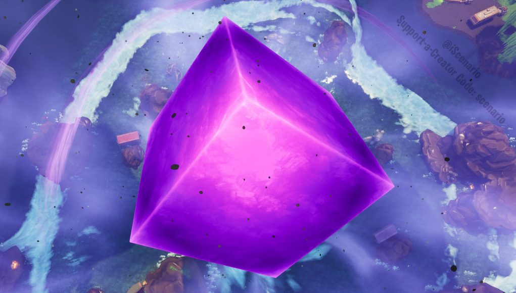Fortnite exploding cube gameplay of today's in-game event