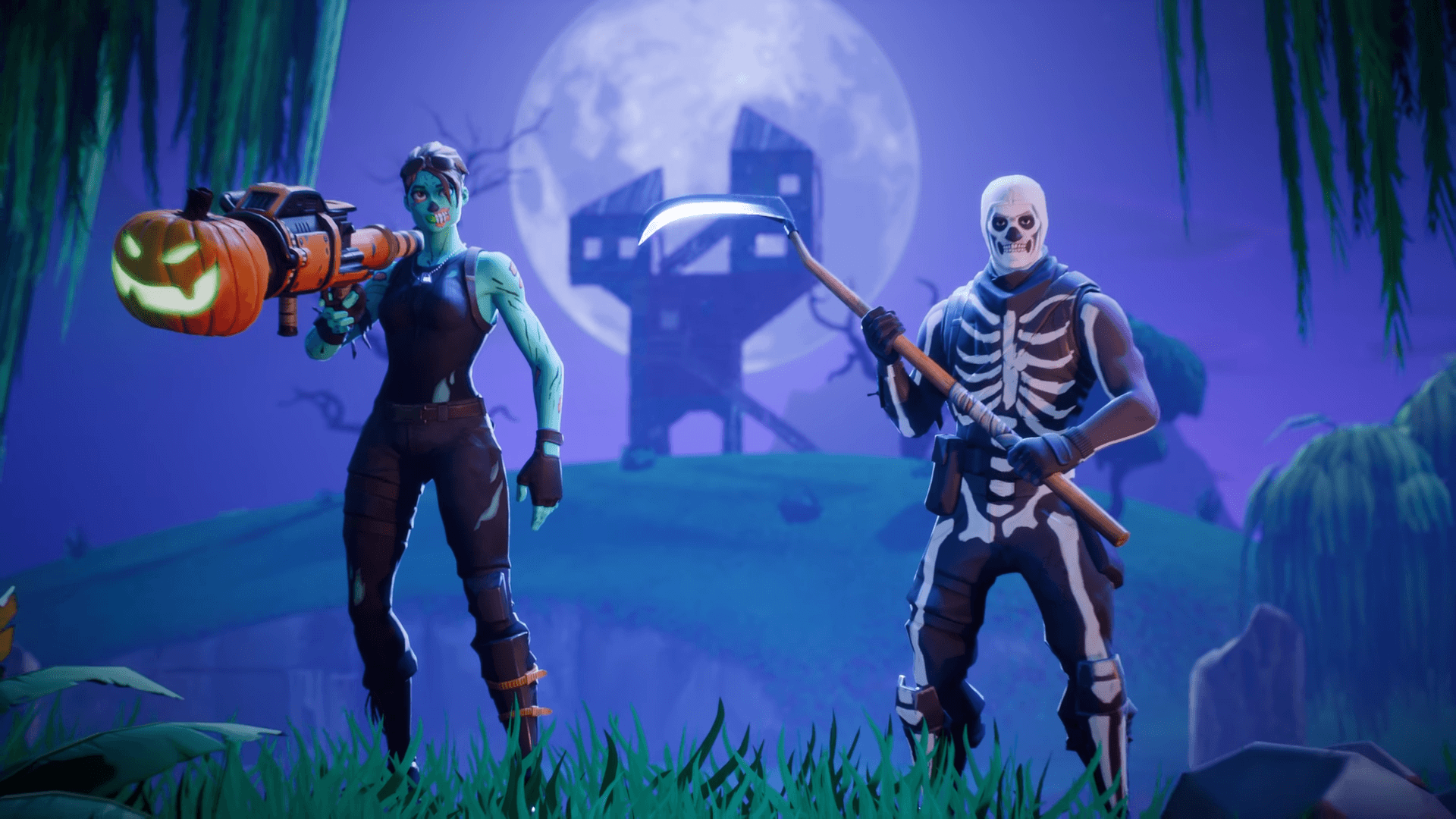 upcoming halloween cosmetics leaked, including skull trooper's