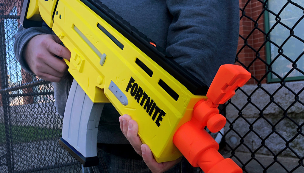 nerf x fortnite ar l blaster revealed - fortnite x nerf commercial