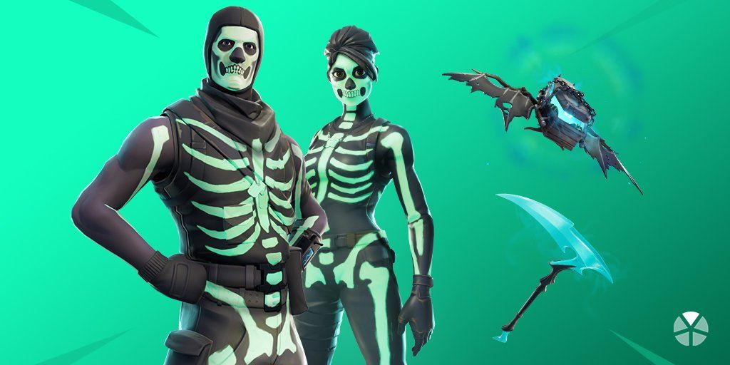 Skull Trooper returns to Fortnite in Skull Squad gear set