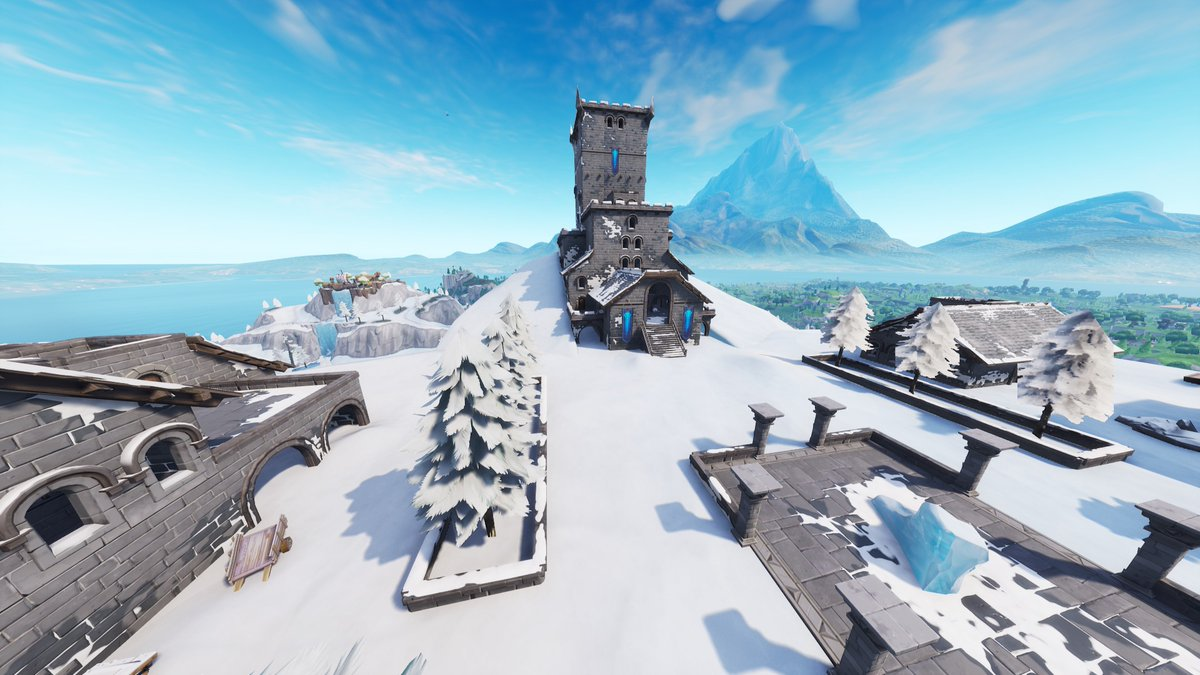 Polar Peak Has Melted To Show More Of The Ice King S Castle Fortnite Intel