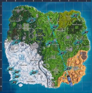 All The Known Locations Of The X 4 Stormwing Plane In Fortnite