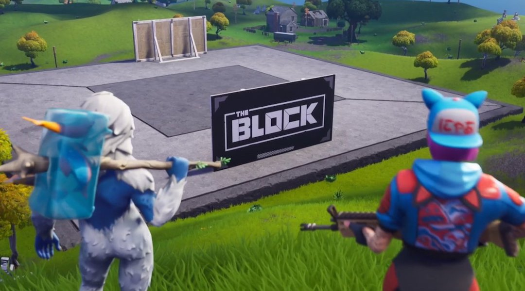 Fortnite Super Bowl Block