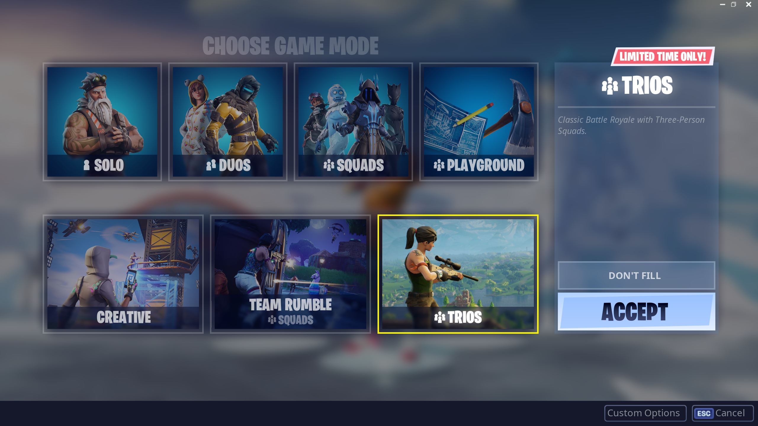 Fortnite Trios Mode