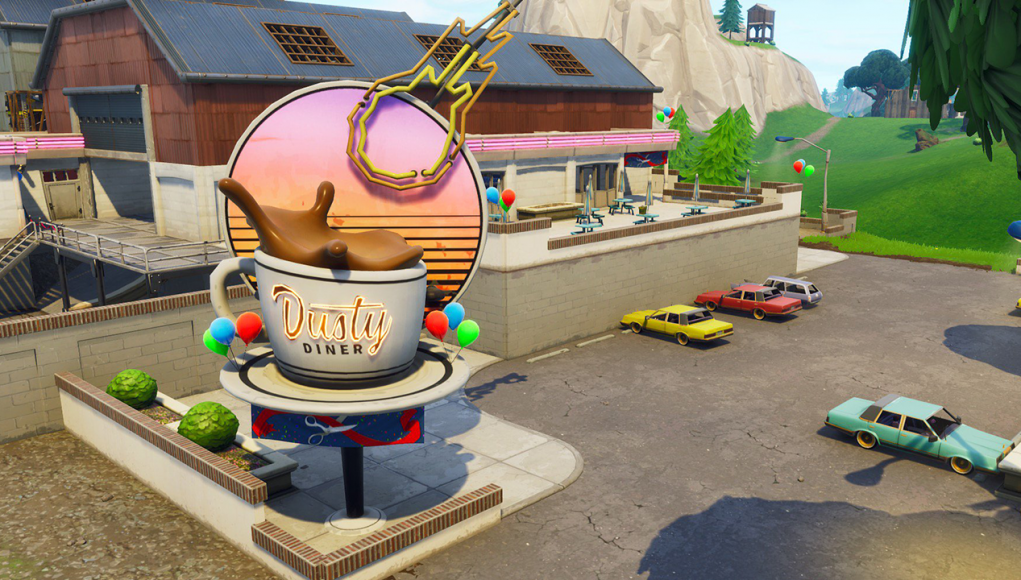 'Fortnite' Sundial, Oversized Cup of Coffee & Giant Metal Dog Head Location Guide