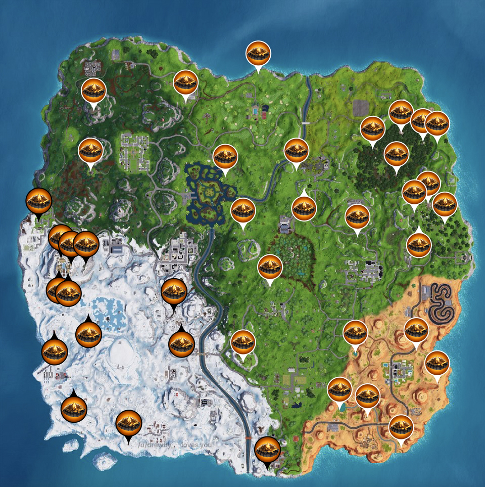 Campfire Locations Fortnite