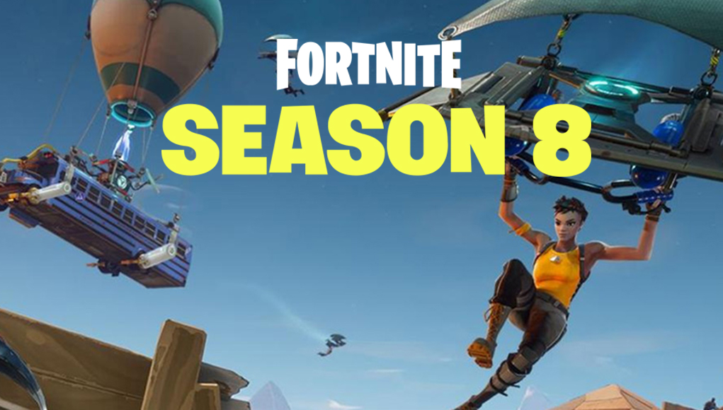 Fortnite Season 8: New Map, Skins and Battle Pass