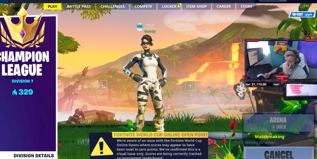 the fortnite world cup might be the last event for faze tfue - the fortnite