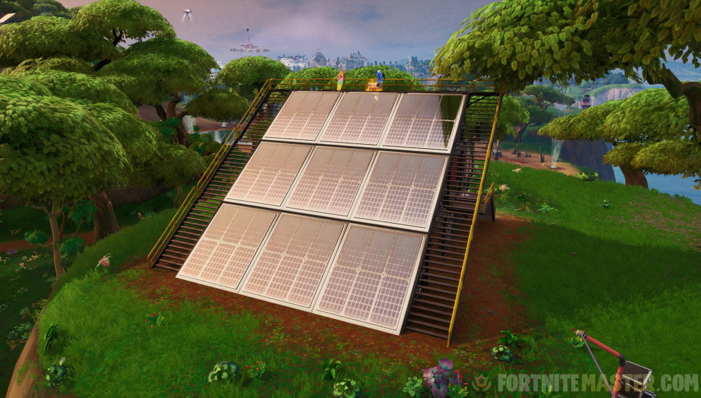 Fortnite Visit Solar Array in Snow, Desert & Jungle