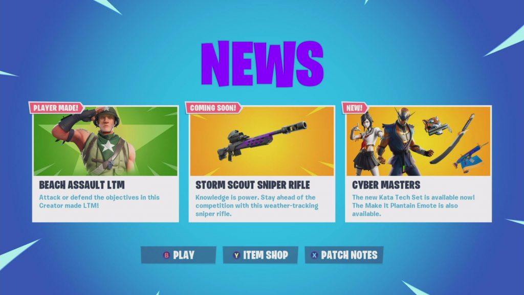 Fortnite, Sniper Rifle Storm Rush Coming with Update Content 9.40