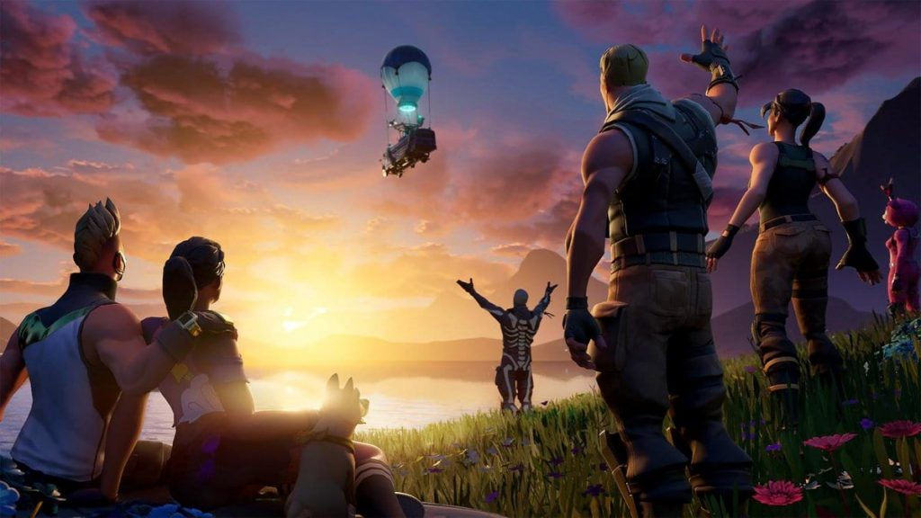 Fortnite the end lobby event