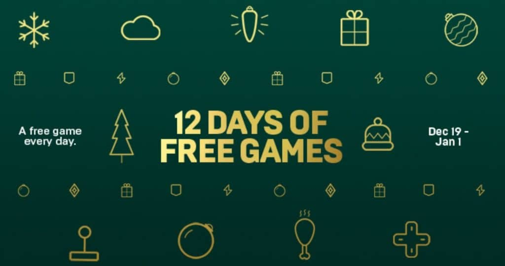 Epic Games offering 12 days of free games