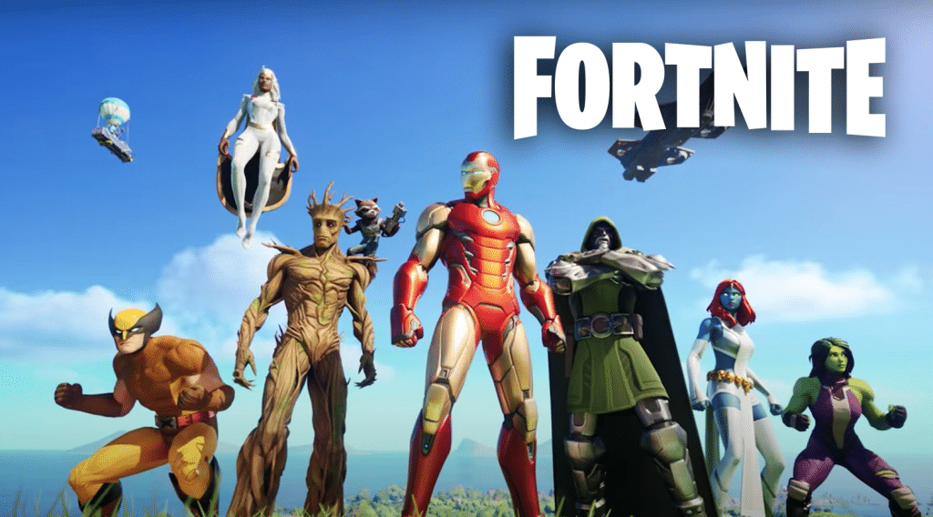 Fortnite Season 4 Marvel characters