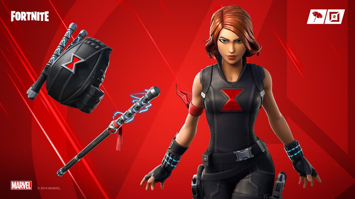 black widow coming to fortnite in the marvel knockout super series