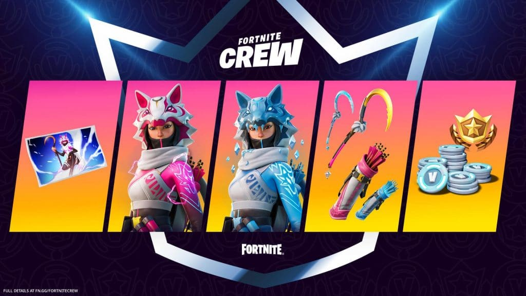 Fortnite February Crew pack