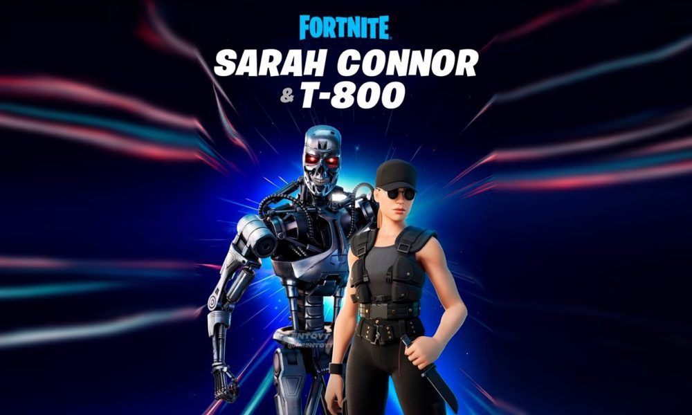 Fortnite Terminator T-800 & Sarah Connor skins leaked thumbnail