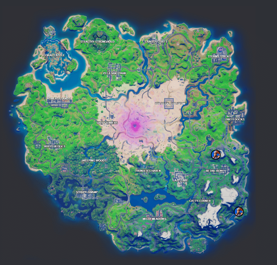 Fortnite Cole locations