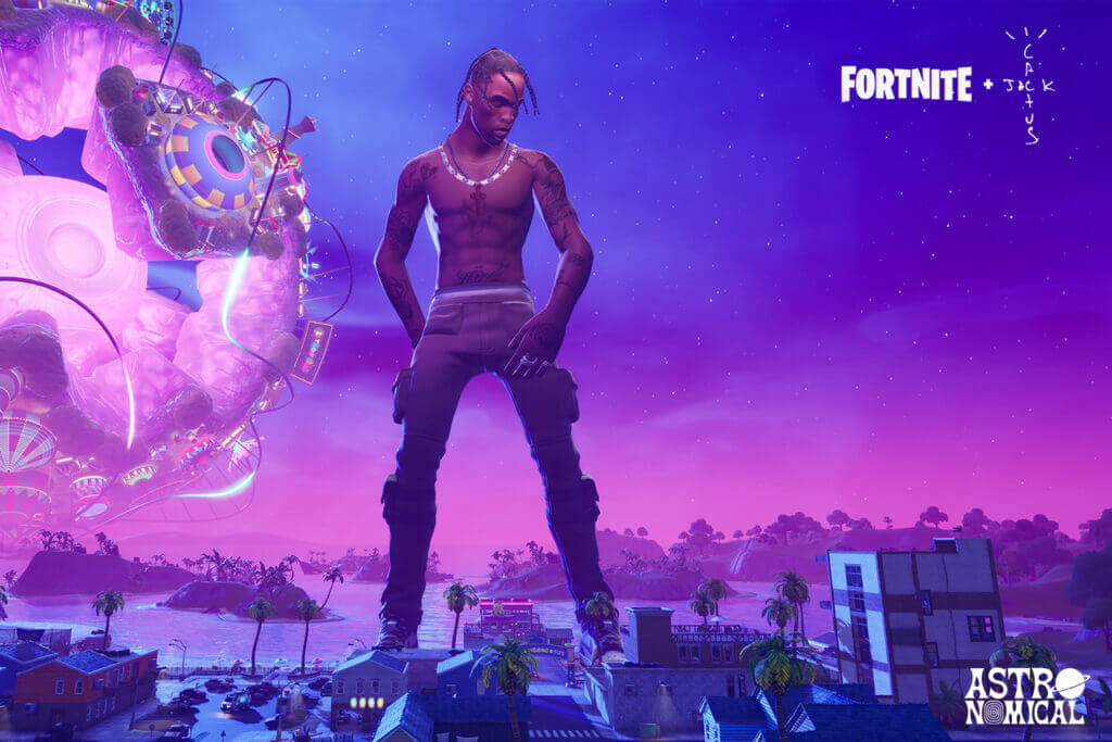 Travis Scott Fortnite Astronomical Concert
